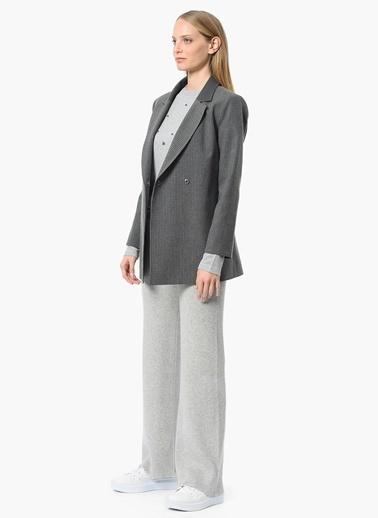 NetWork Çizgili Blazer Ceket Antrasit